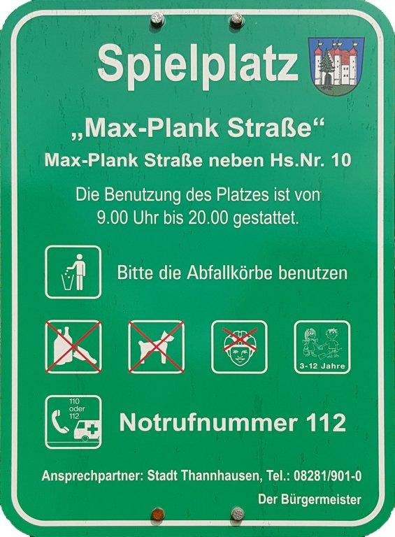 Spielplatz Info Max Planck